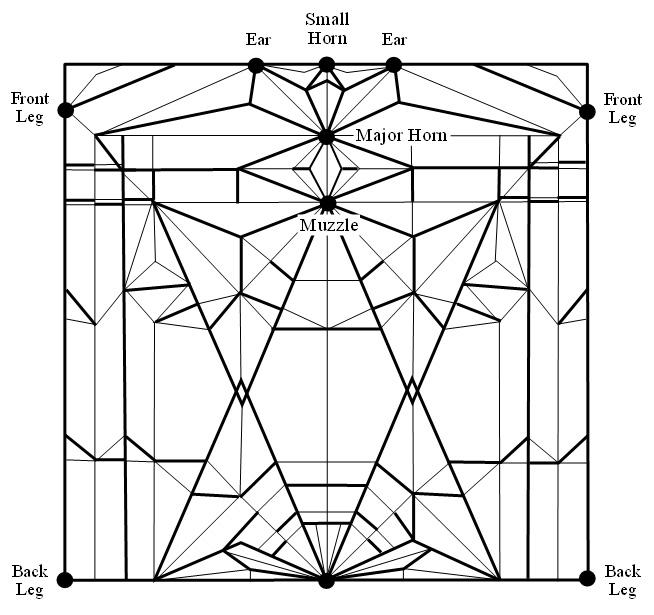 Оригами лев от N. Terry.  Еще несколько интересных схем.